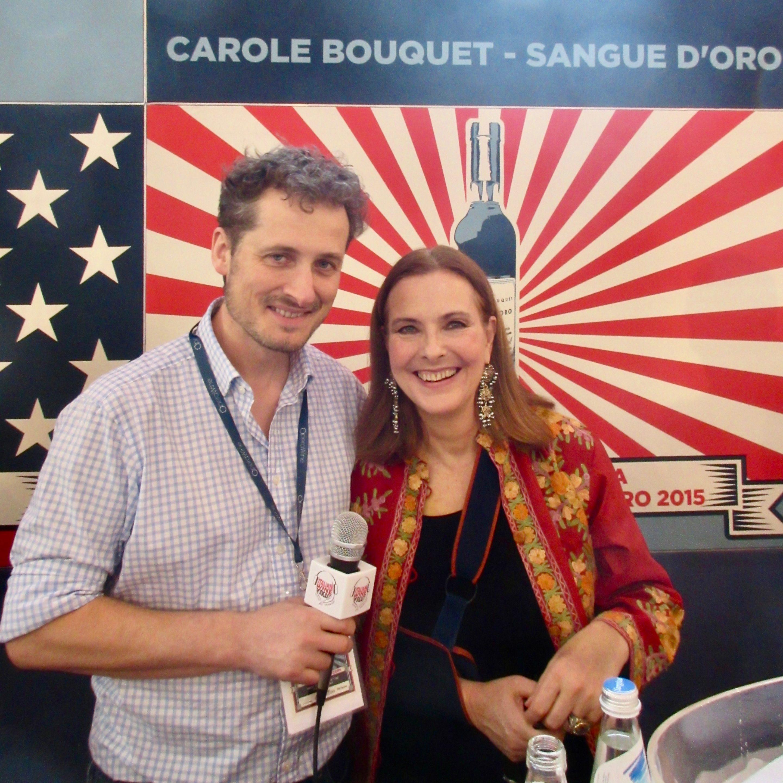 Carole Bouquet (Sangue D'Oro Passito di Pantelleria) with Monty Waldin