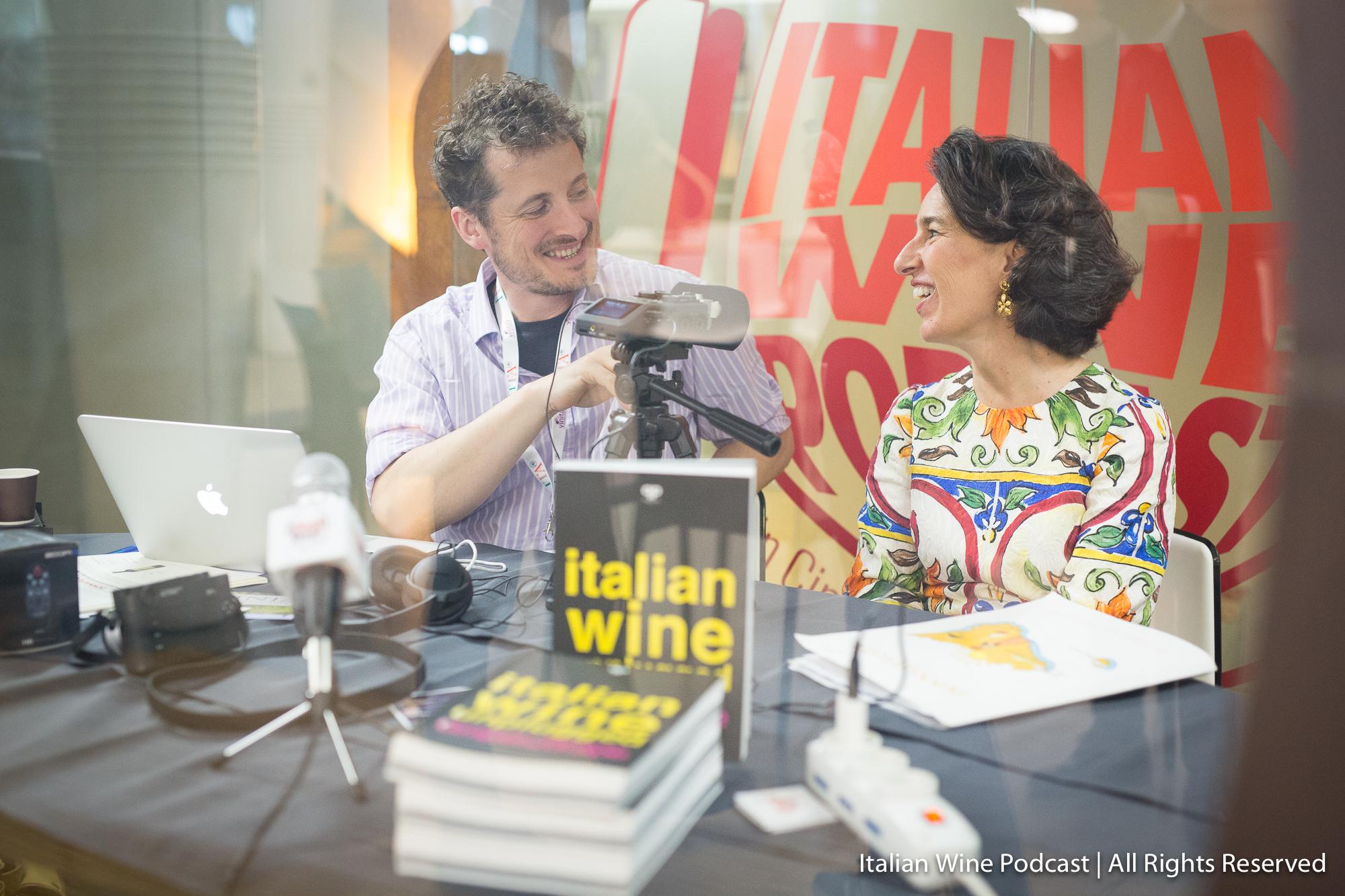 Monty Waldin (left) interviews José Rallo (right) whose family owns the Donnafugata winery in Sicily